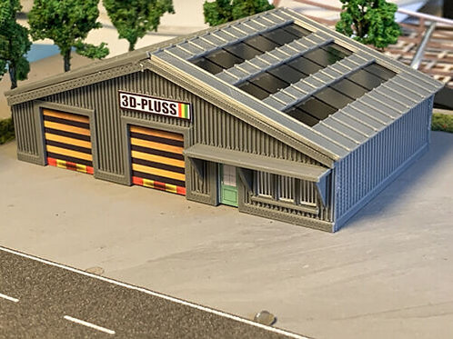 N Scale Industrial warehouse unit plastic easy assembly kit