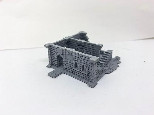 N Scale Ruins Resin printed