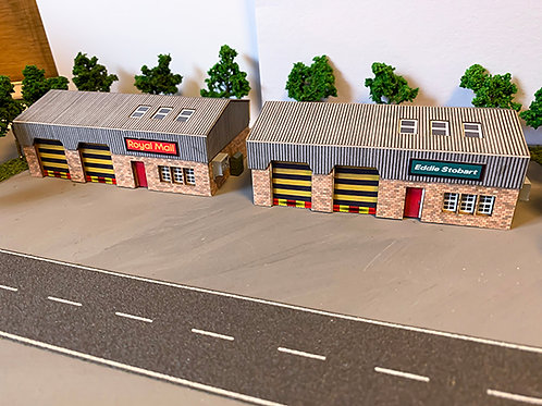 N Scale Twin pack industrial units