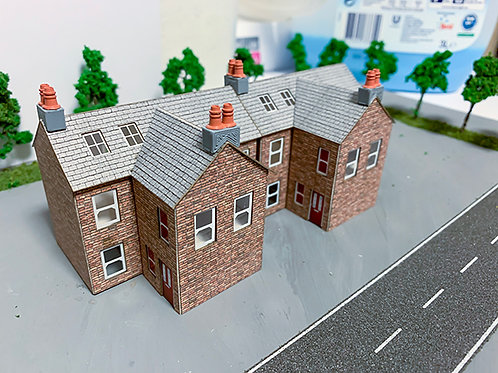 3D-PLUSS N Scale Terraced Houses Easy Assembly