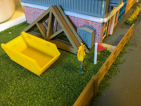 OO Scale Roof truss with Skip Pack of 5