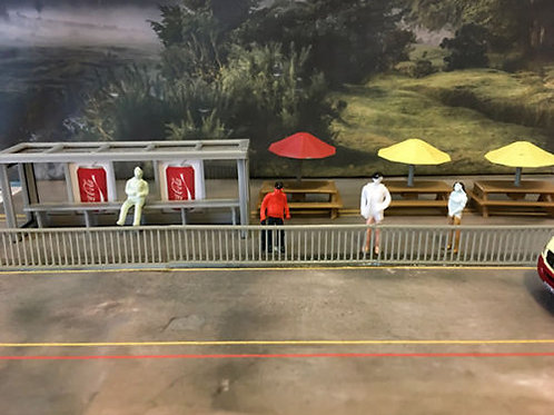SAFETY PAVEMENT RAILINGS FENCING OO SCALE 1:76
