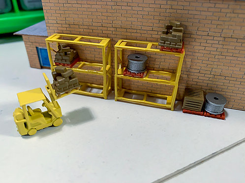 N Scale Racking + Forklift
