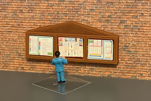 N scale Notice Boards