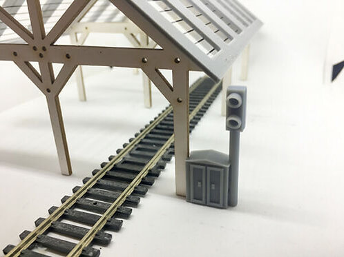 00 scale Dummy Signal with fuse box x3 OO Gauge