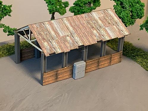 N Scale Barn