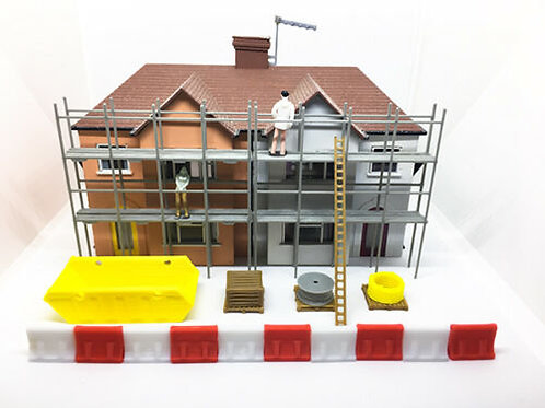 OO Scale Scaffold Building site