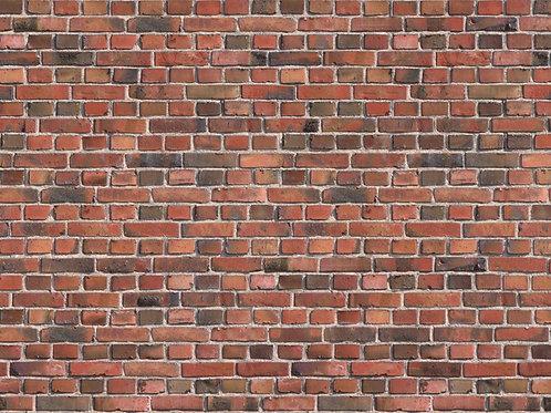N Scale Red Brick