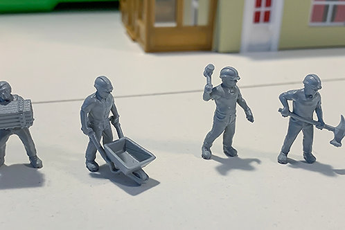 Set of 4 Workmen OO Scale