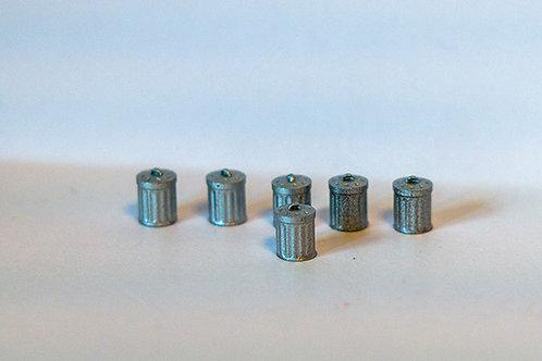 N Scale Dustbins pack of 6