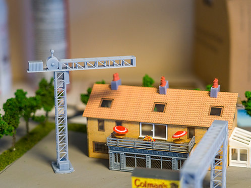 N Scale Construction Crane Resin high detail