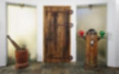 דלת כניסה עץ ממוחזר
