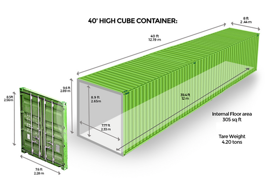 """40"""" Cube Container"""