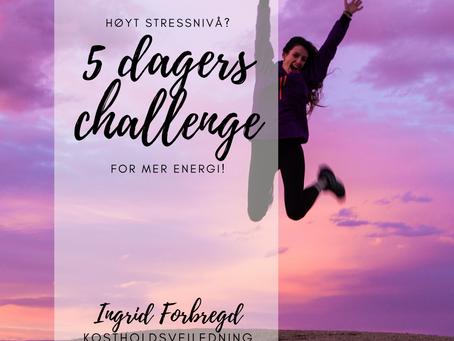 Gratis challenge for mer energi
