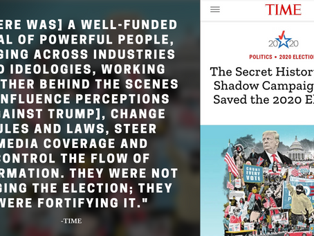 Time Magazine admits 'well-funded cabal' influenced 2020 US election against Trump