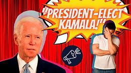 Joe Biden calls Kamala President-Elect