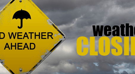 Closed for Tropical Storm Warning