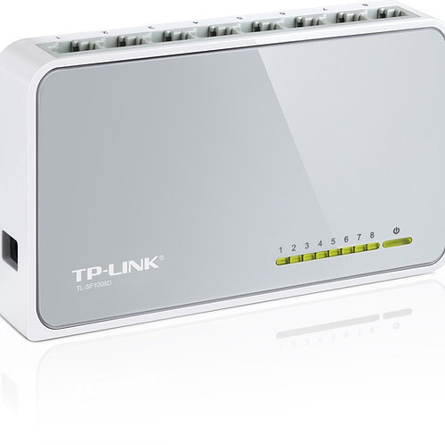 TP-LINK 8 Port Fast Ethernet 10/100Mbps Network Switch Desktop RJ45 - TL-SF1008D