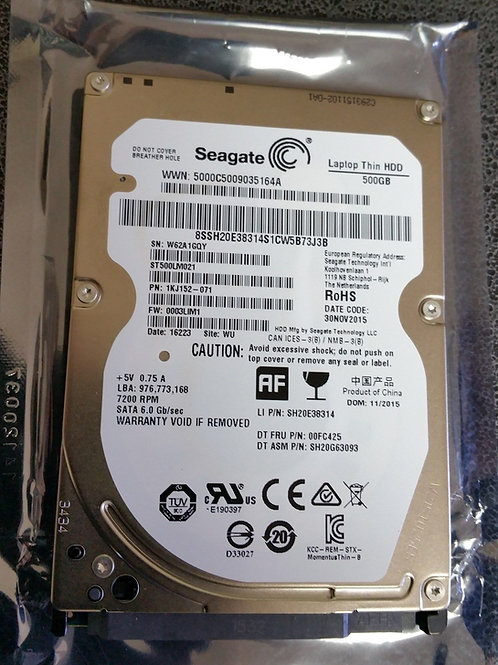 Seagate 500GB 2.5in 7mm slim drive ST500LM021