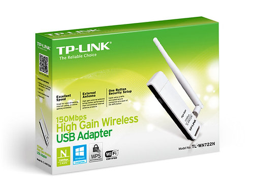 TP-Link TL-WN722N N150 150Mbps High Gain Wireless USB Adapter, 4dBi Ext. Antenna