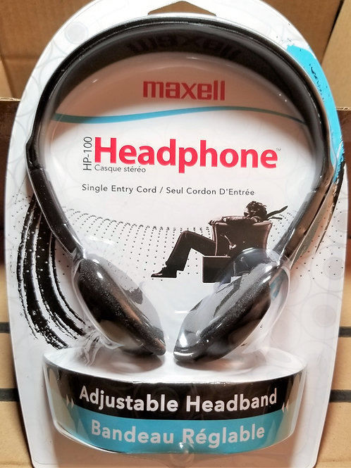 Maxell HP-100 Headband Headphones 190319 - Black