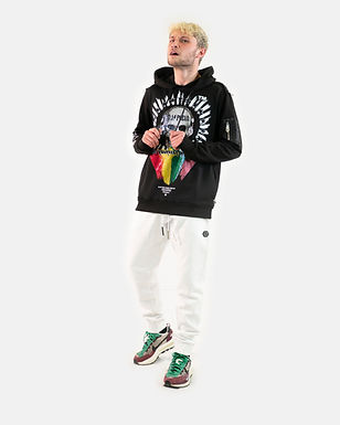 PHILIPP PLEIN - Pantalone tuta bianco
