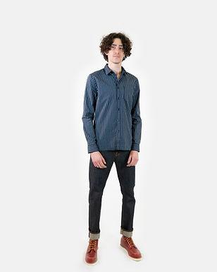 Camicia Henry Stripe idigo NUDIE JEANS