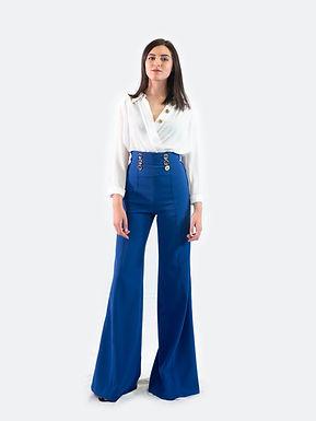 ELISABETTA FRANCHI Pantalone Cobalto PA-052-01E2-V249