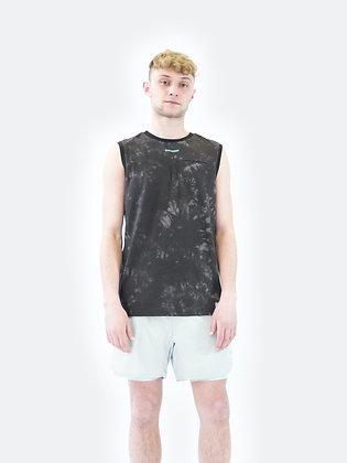 Run loose vest black tie dye SUPERDRY (Disponibilità L)