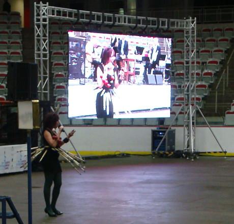 Dee hosting the Alberta 55+ games