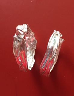 Hoop earrings tumbled