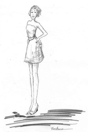 Fashion Figure pencil drawing