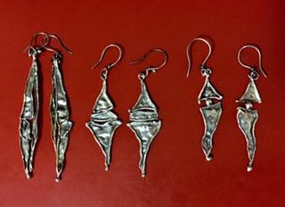 Silver Linings earrings,,