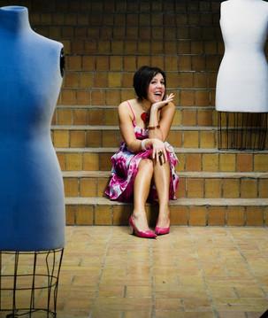 Dee posing for Aveune Magazine