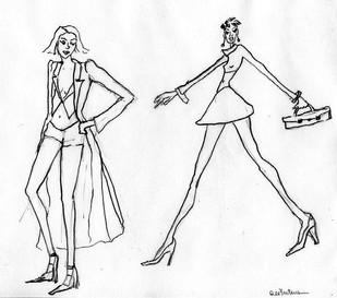 Fashion Figure pencil drawing