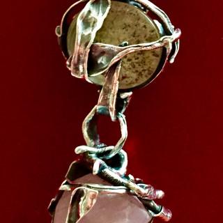 Crystal, rose quartz & 925