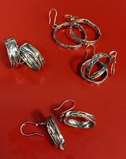 Silver Linings hoop earrings