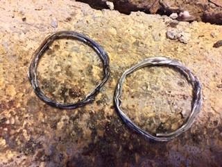 Soldered hoop earrings