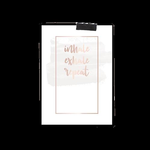 Postkarte :: INHALE