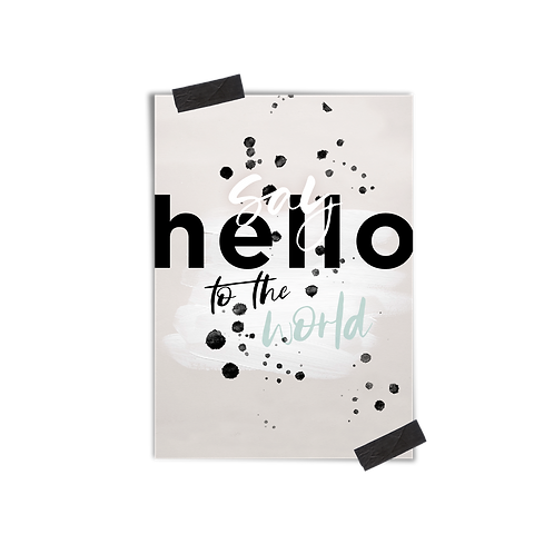 Postkarte :: HELLO WORLD