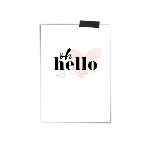 Postkarte :: HELLO GIRL