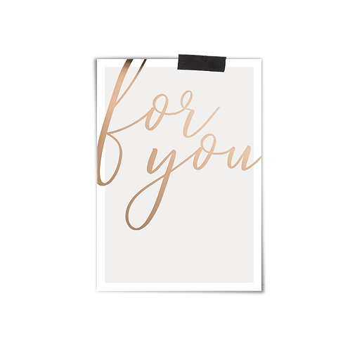 Postkarte :: FOR YOU