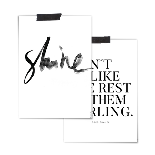 2 in 1 Poster :: SHINE DARLING