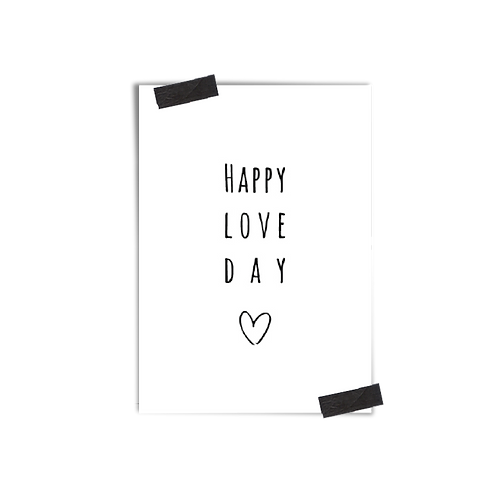Postkarte :: HAPPY LOVE DAY