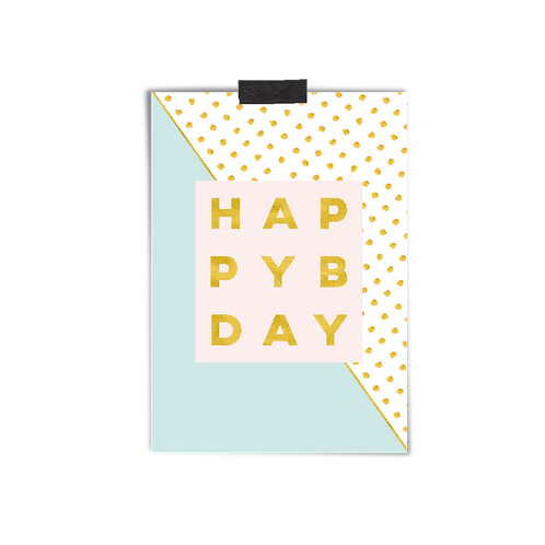 Postkarte :: HAPPY BDAY