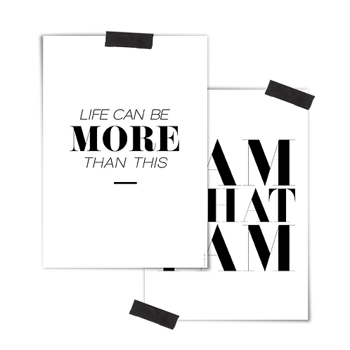2 in 1 Poster :: I AM MORE