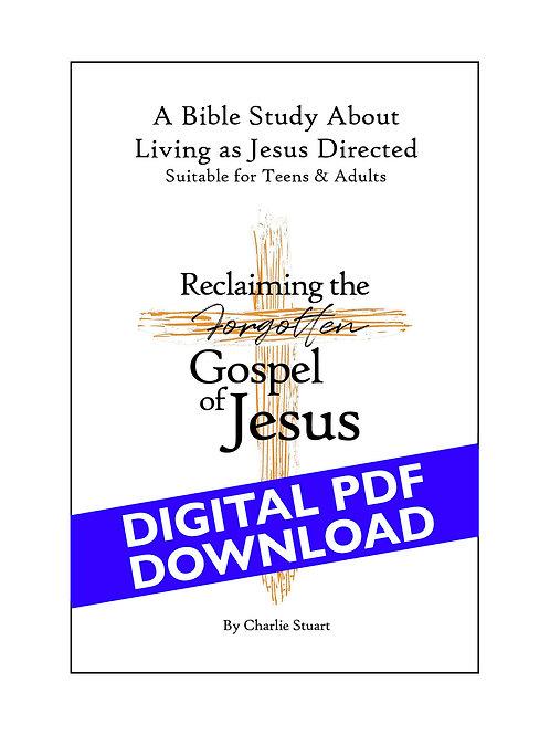 "Digital PDF of Bible Study for ""Reclaiming the Forgotten Gospel of Jesus"""