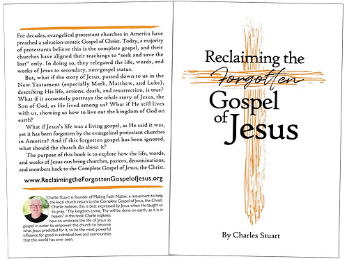 Reclaiming the Forgotten Gospel of Jesus (digital PDF)