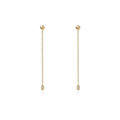 Dancing Seed Chain Earrings S