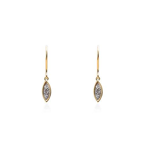 Seed Diamond Hook Earrings